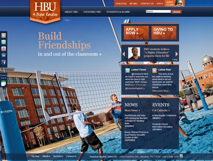 Best Education Site  Houston Baptist University	 - http://www.hbu.edu  Implemented by Adaptdev  HBU, a leading institution for Christian higher education, is now using Kentico's robust solution for managing its large content editor base, as well as security for items such as compliance, accreditation and payment. http://www.kentico.com/Customers/Site-of-the-Year/Site-of-the-Year-2012