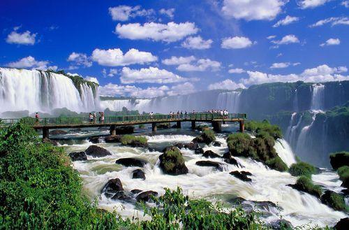 The Iguazu Waterfalls in Argentina, Brazil
