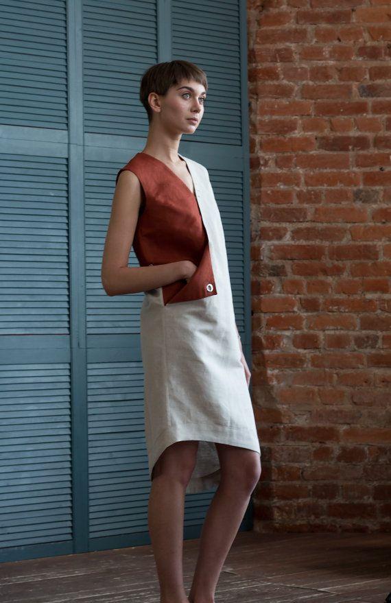 Designer dress with pocket / Linen dress / by ExlibrisClothing