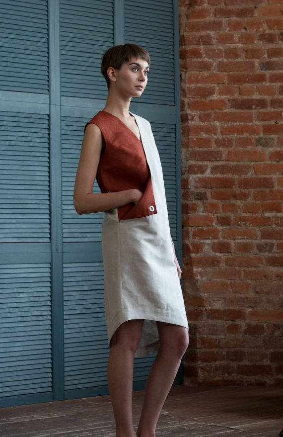 Designer dress with pocket / Linen dress / by ExlibrisClothing