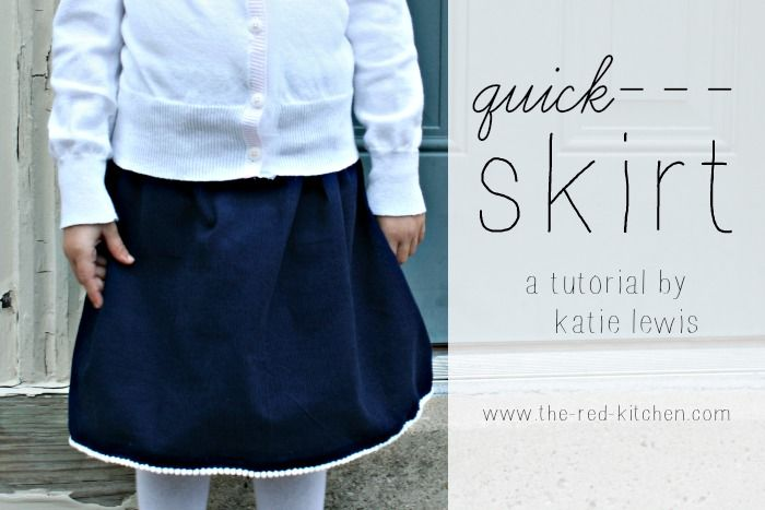 the red kitchen: Quick Skirt Tutorial