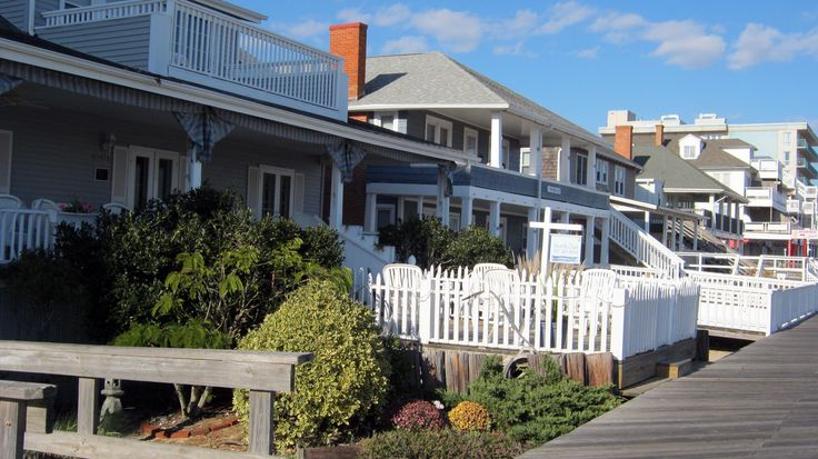 Ocean City Maryland - A Brief History of OCMD With Pictures. Beach cottages on Boardwalk. .