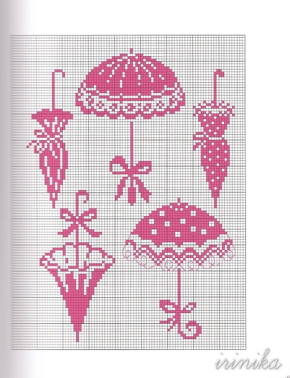 free umbrella cross stitch pattern