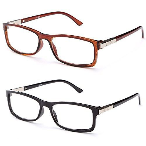 """Chris"" Unisex Squared Spring Hinge Fashion Celebrity Clear Lens Glasses"