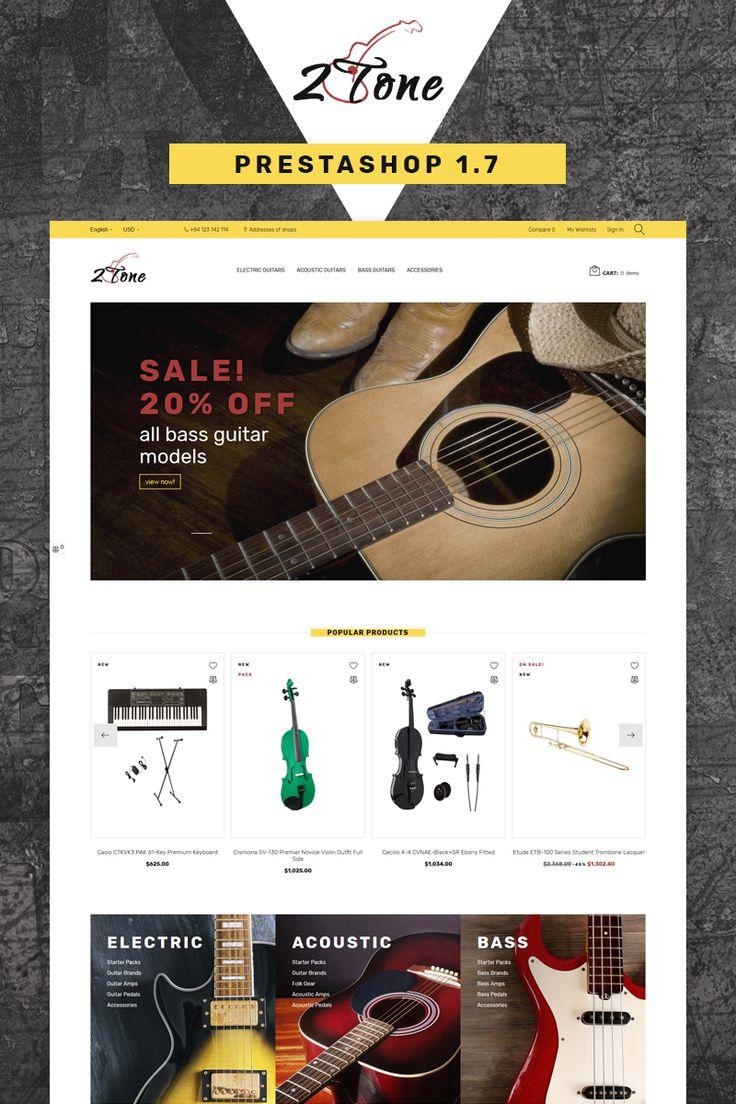 2Tone - Guitar Store PrestaShop Theme #67049