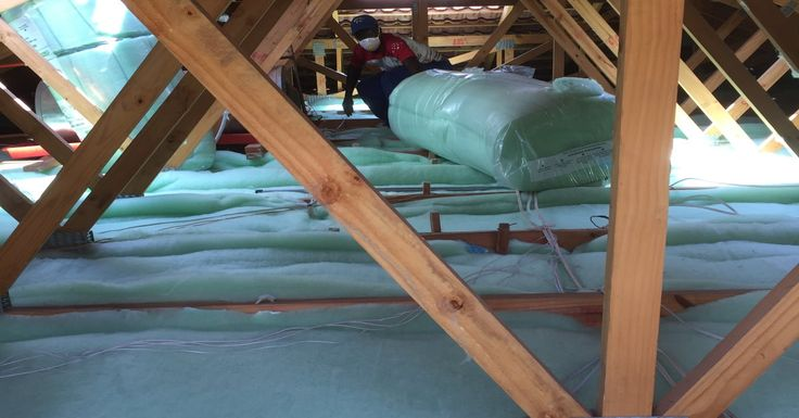 Isotherm in a roof space. Very neat installation by Roof Rats.
