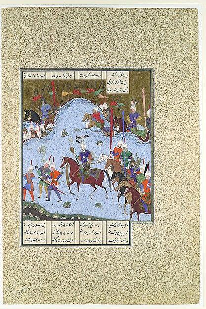 """Bahram Gur Advances by Stealth against the Khaqan,"" Folio from the Shahnama (Book of Kings) of Shah Tahmasp"