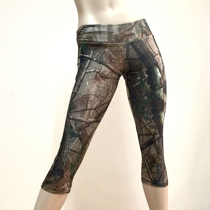 Real Tree Camo Pants Low Rise Capri Hot Yoga Workout Sxyfitness Handmade In Usa