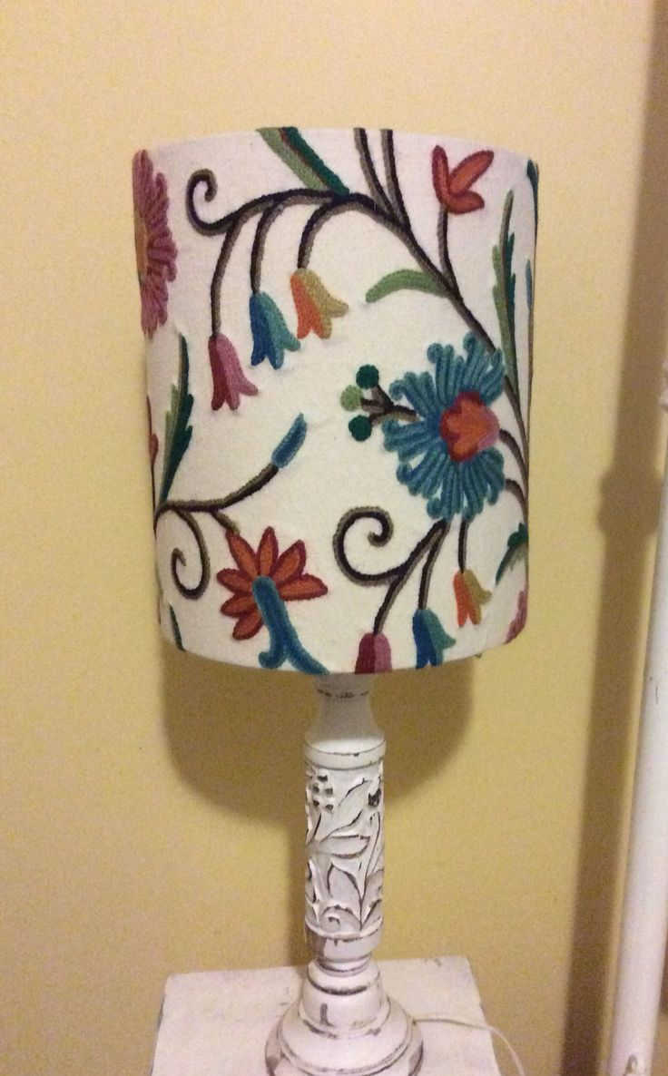 New lampshades! I covered these one afternoon, so excited!