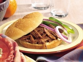 Slow Cooker Root Beer Barbecue Beef Sandwiches Recipe from Betty ...