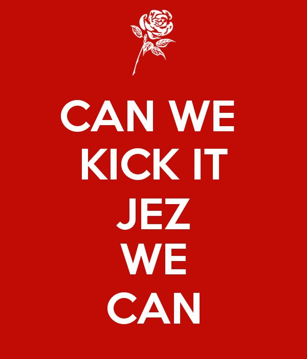 'CAN WE  KICK IT JEZ WE CAN' Poster
