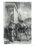 "Fight Scene, Illustration for ""Le Cid"" by Pierre Corneille 1762 Giclee Print by Hubert Gravelot"