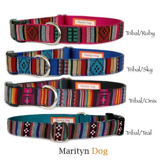 Dog leash Colorful Navajo Ikat Tribal Southwestern by MaritynDog
