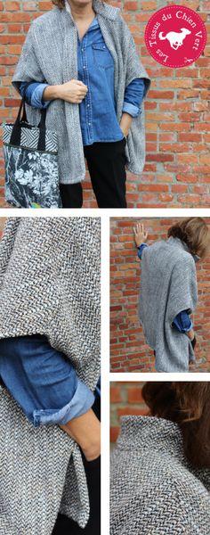 DIY la cape en laine – Confectionnez votre cape en lainage pour affronter l'air frais, ça vous dit?Suivez le guide…Tuto vidéo !