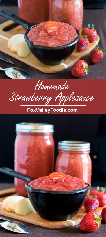 Homemade Strawberry Applesauce