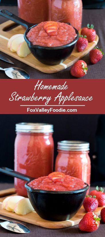 Homemade Strawberry Applesauce