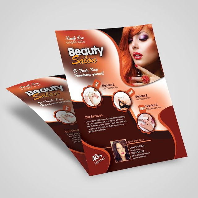 663 best FLYER images on Pinterest Font logo, Clean design and - hair salon flyer template