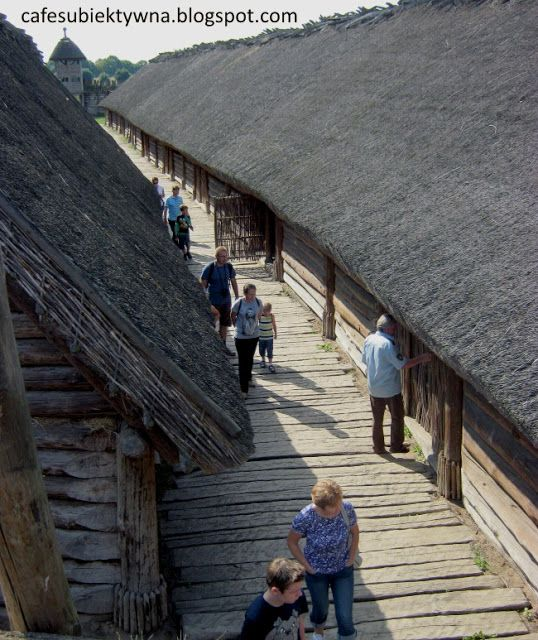 Biskupin, Poland - fortified settlement of Lusatian culture, built in the eighth century. BC.