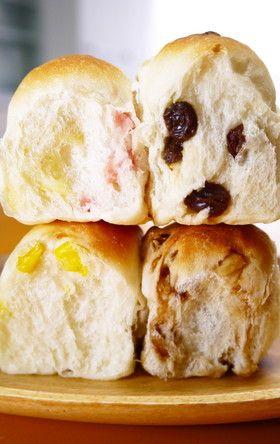 4つの味の菓子パン♪ちぎりパン☆ランチ