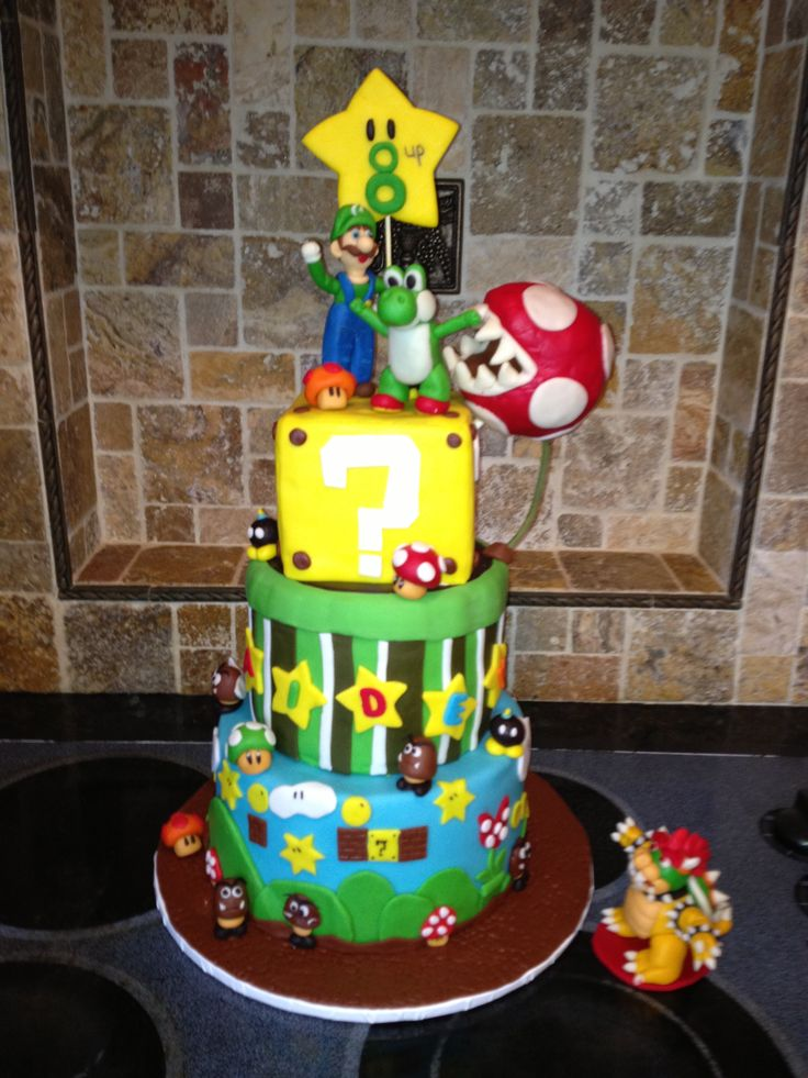 Best P Cakes Images On Pinterest Mario Party Super Mario - Bowser birthday cake