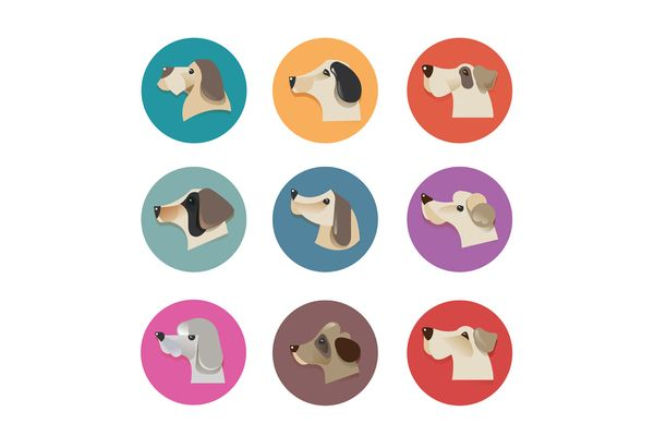 Pets Vector Icons - Dogs Elements