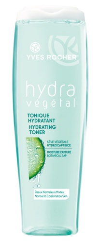 Hydrating Toner  -  Does what it says! My review for the cream cleanser was not so great but for this product, hands down the best on the market in toners.If you have dry skin, or problem skin this is for you. I felt it tingle as it worked. TRULY AMAZED. There is glycerin in this, as well as with hazel and many other good for you skin items. This is one I am going to buy more of. So GLAD YR came out with this. -megsmail September 15 2012  #yvesrocher #hydravegetal #skincare