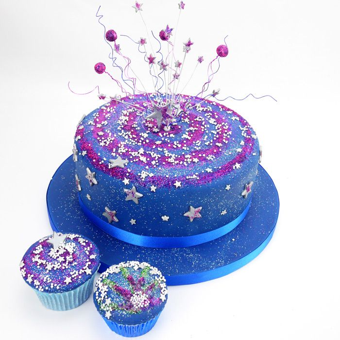 All That Glitters! Perfect cake for Fireworks or Bonfire night and of course New Years Eve! All edible glitter!