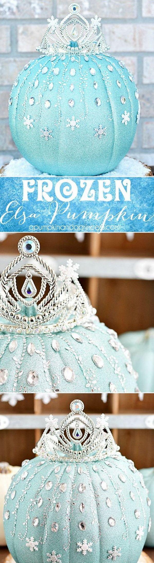 Frozen Elsa Pumpkin.