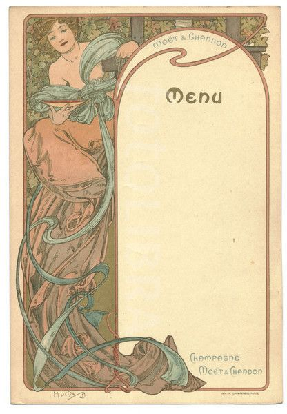 Images like 'Menu (2) designed by Alphonse Mucha' (Showing 1 - 8 of 8)
