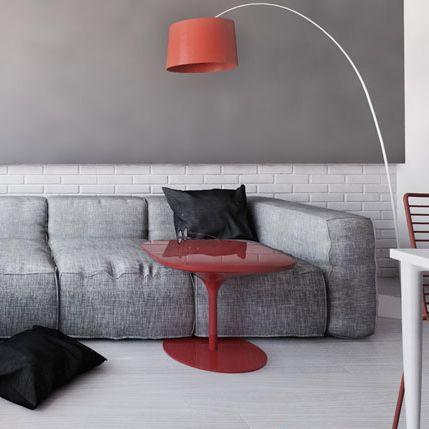Living room design in Bytom, POLAND - archi group. Pokój dzienny w mieszkaniu w Bytomiu.