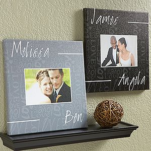 This canvas is so cute! Love the color options ... great wedding gift idea!