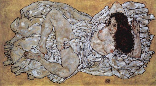Ξαπλωμένη γυναίκα (1917)  Μουσείο Λέοπολντ στη Βιέννη