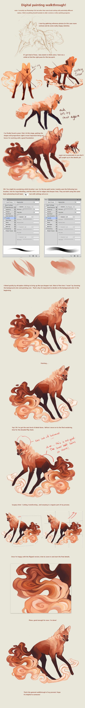animal digital painting