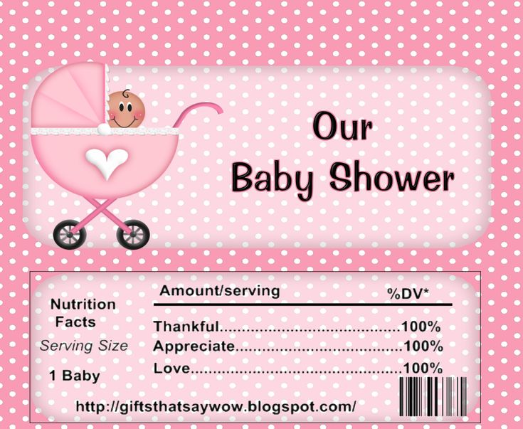 Free Printable Candy Bar Wrappers for Baby Showers...(boy or girl)..look on right side for boy wrappers.