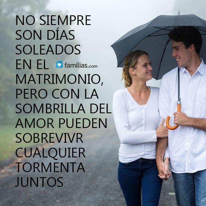 Con amor se puede sobrellevar cualquier tormenta