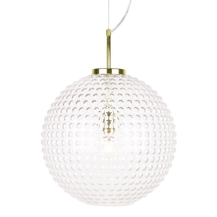 Spring Pendel XL ø40 cm, Klar/Messing - Globen Lighting - Globen Lighting - RoyalDesign.no
