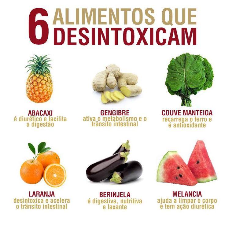 6 alimentos que desintoxicam                                                                                                                                                                                 Mais