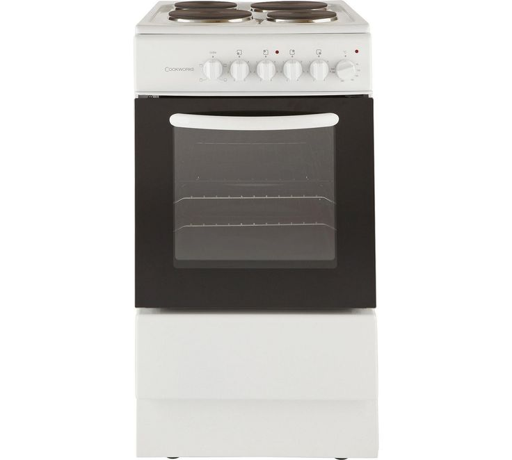 Buy Cookworks CES50W Single Electric Cooker - White at Argos.co.uk, visit Argos.co.uk to shop online for Freestanding cookers, Cooking, Large kitchen appliances, Home and garden