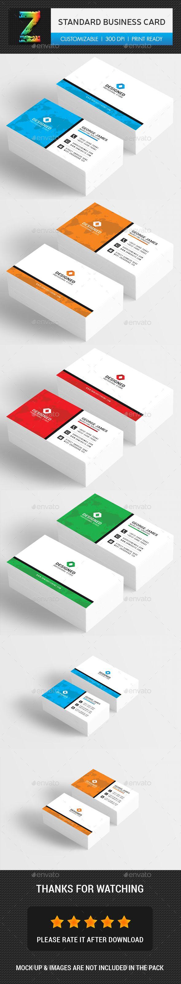 Standard Business Card Template PSD