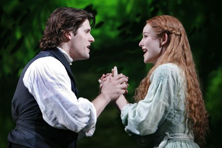 The Woman in White, Original Broadway cast - Adam Brazier as Walter Hartright and Jill Paice as Laura Fairlie