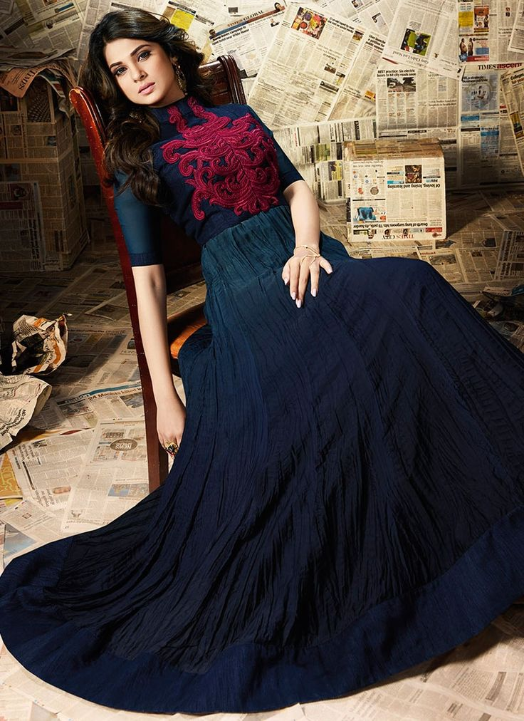 Buy Voluptuous Jennifer Winget Resham Work Floor Length Anarkali Suit  #salwarkameez #anarkalisuits #womensuits #anarkalifashion #salwarkameezsale #glamor #glamorous