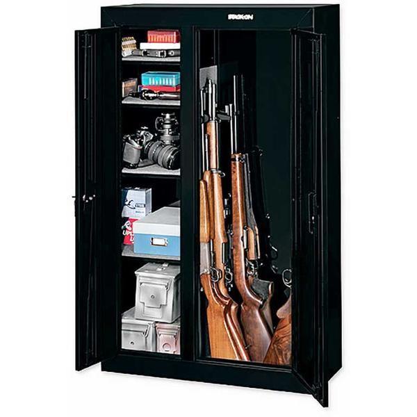Gun Security Cabinet >> Stack On Security 10 Gun Double Door Security Cabinet Black Stack