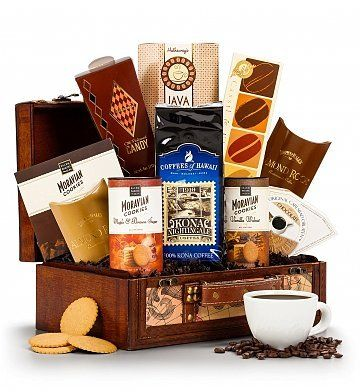 Coffee Lover's Gift Basket - http://mygourmetgifts.com/coffee-lovers-gift-basket/