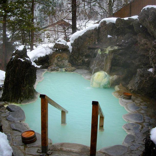You might get bored in a tub but you'll never be bored in an outdoor Japanese hot spring. Shirahone hot springs