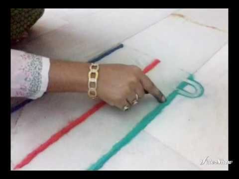Border rangoli // finger rangoli by nidhi jain - YouTube