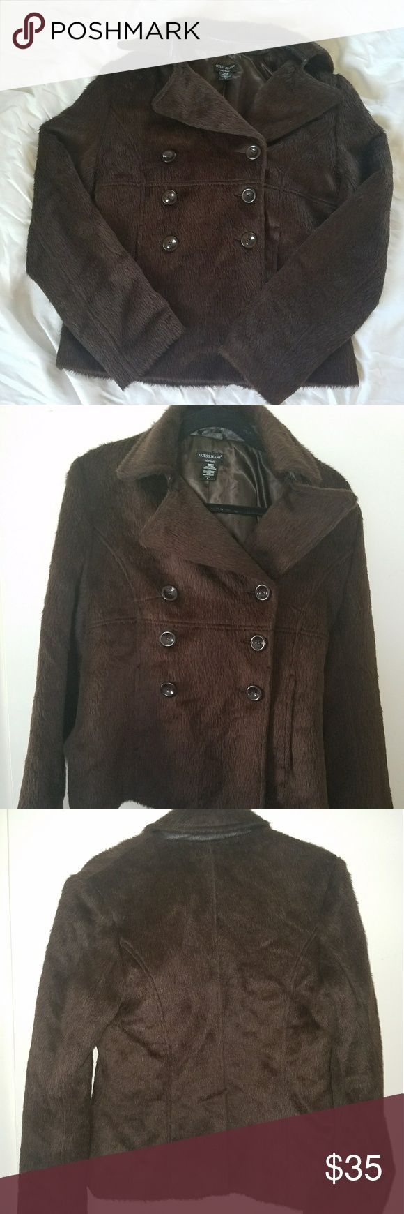 I just added this listing on Poshmark: Brown Faux Fur Guess Coat. #shopmycloset #poshmark #fashion #shopping #style #forsale #Guess #Jackets & Blazers