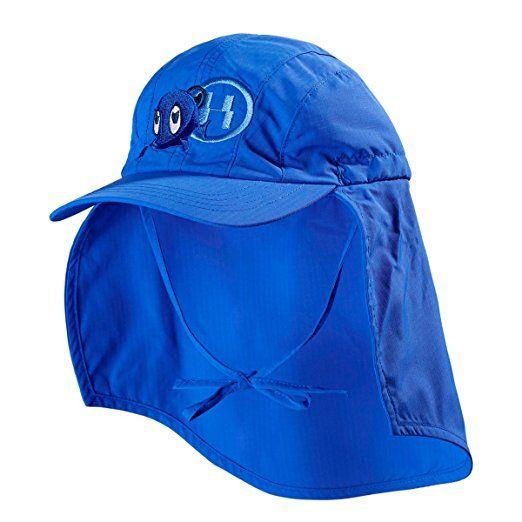 HYPHEN UV- Kappe mit Nackenschutz Baby-Bademode UV-Schutz-Kleidung, Größe 50/52, blau
