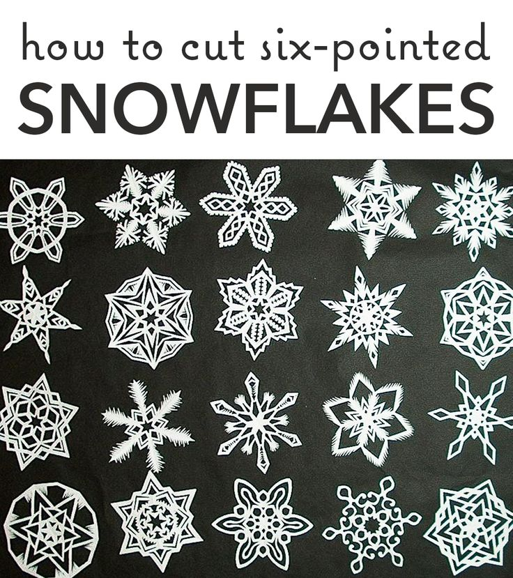 Learn the best way to cut perfect 6-sided snowflakes!