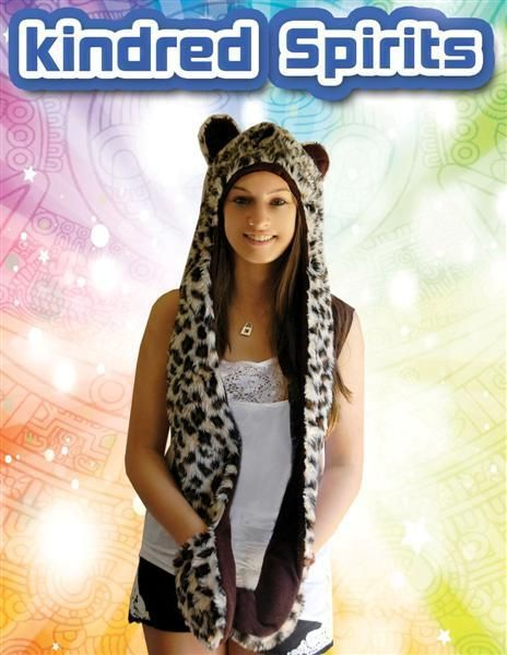 SPIRIT HOOD IN LEOPARD DESIGN WITH LONG SIDES