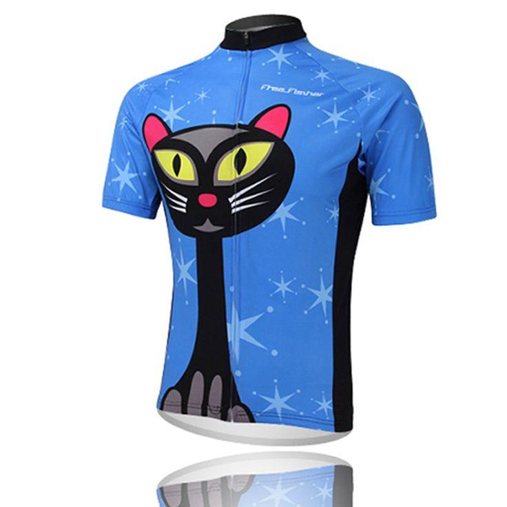 Женщины в черный Cat езда на велосипеде кофта езда на велосипеде одежда велосипед джерси команда велосипед велосипед езда на велосипеде джерси короткий рукав езда на велосипеде